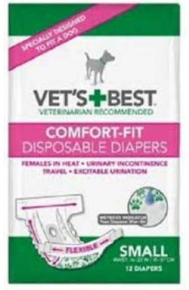 Perfect Fit Washable Female Diaper Navy Small/Medium