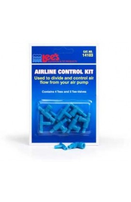 Lee's Airline Control Kit W/4 Lee's Plastic Tees & 5 2way Valves