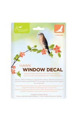 Pacific Bird & Supply Window Decal Hawk
