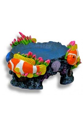 Resin Betta Bowl Stand - Coral Reef