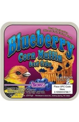 F.M. Brown's Garden Chic! Blueberry Corn Muffin Suet 8/11oz