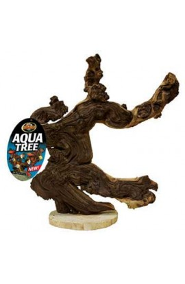 "Mopani Wood Aqua Tree 12"""