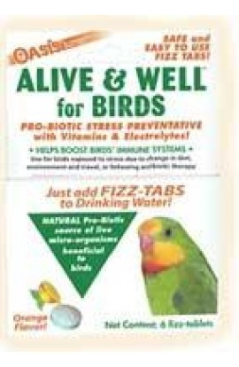 Kordon Alive & Well For Birds, Stress Preventative & Pro-Biotic Tablets