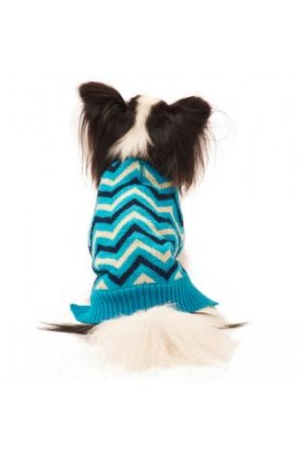 Ethical Medium Blue Chevron Sweater