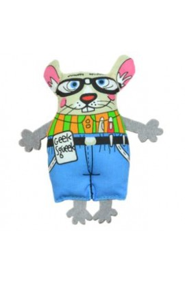 Petstages Madcap Geeky Squeek Mouse 100% American Catnip Toy