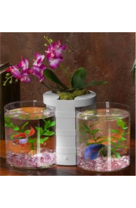 Elive White Betta Cylinder & Planter