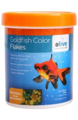 Elive Color Goldfish Flake Food 1.2z