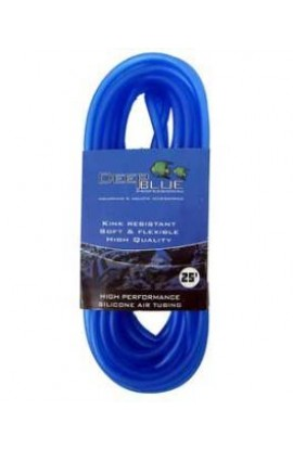 Deep Blue High Performance Silicone Air Tubing 25 ft. Blue