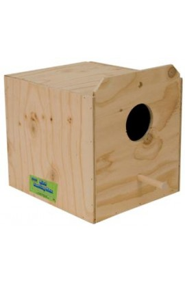 Ware Wood Nesting Box Cockatiel Reverse